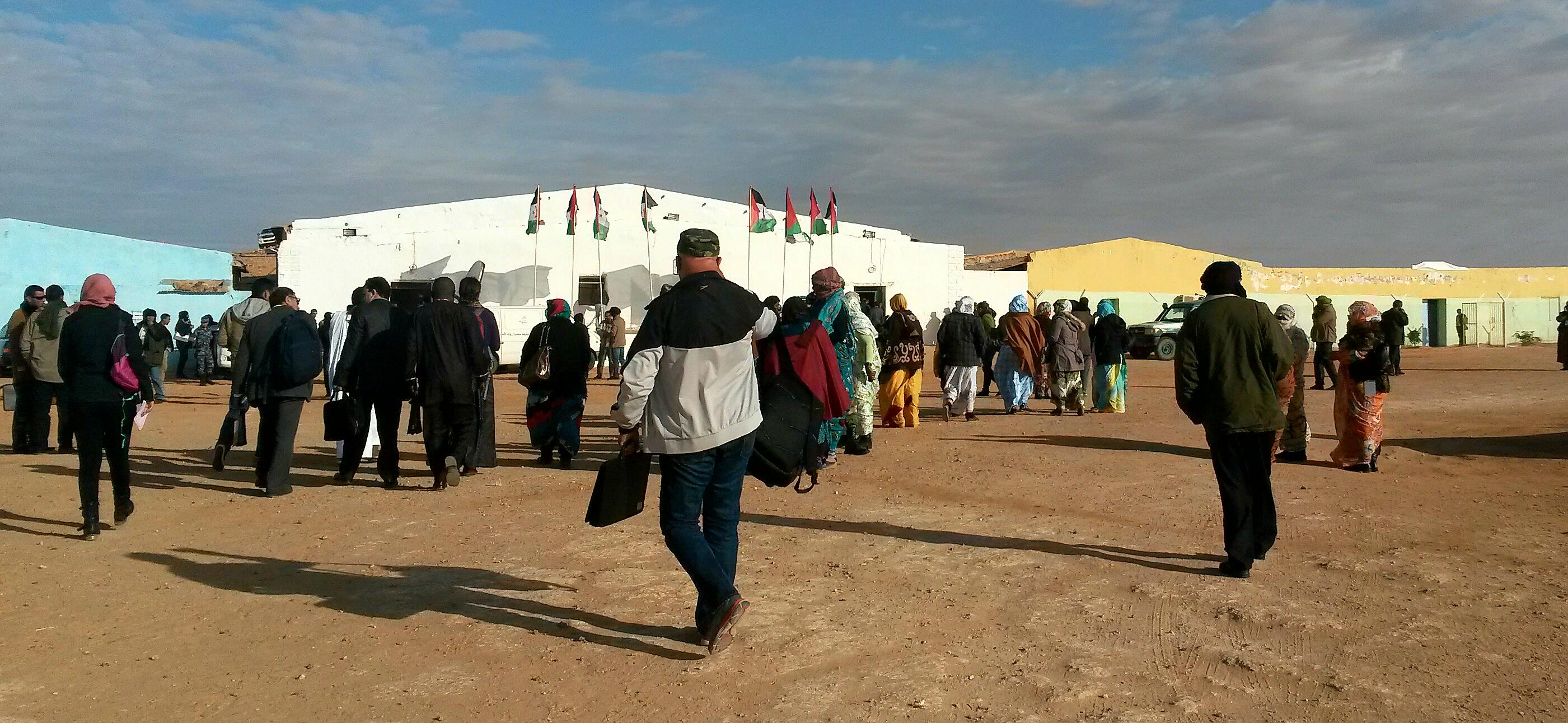 réunion syndicalistes Sahara Occidental