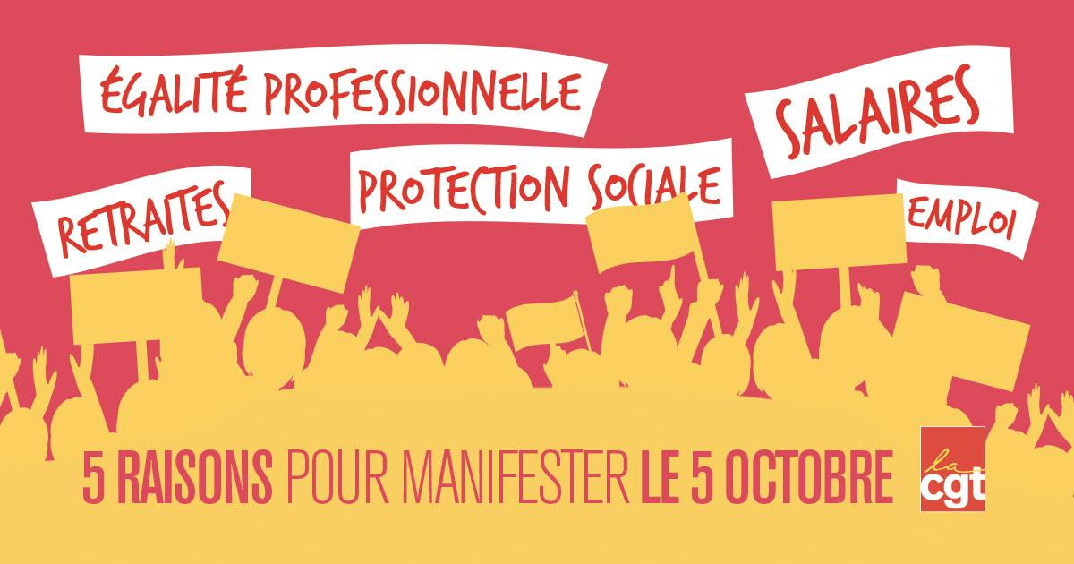 5 octobre - Matériel pour mobilisation