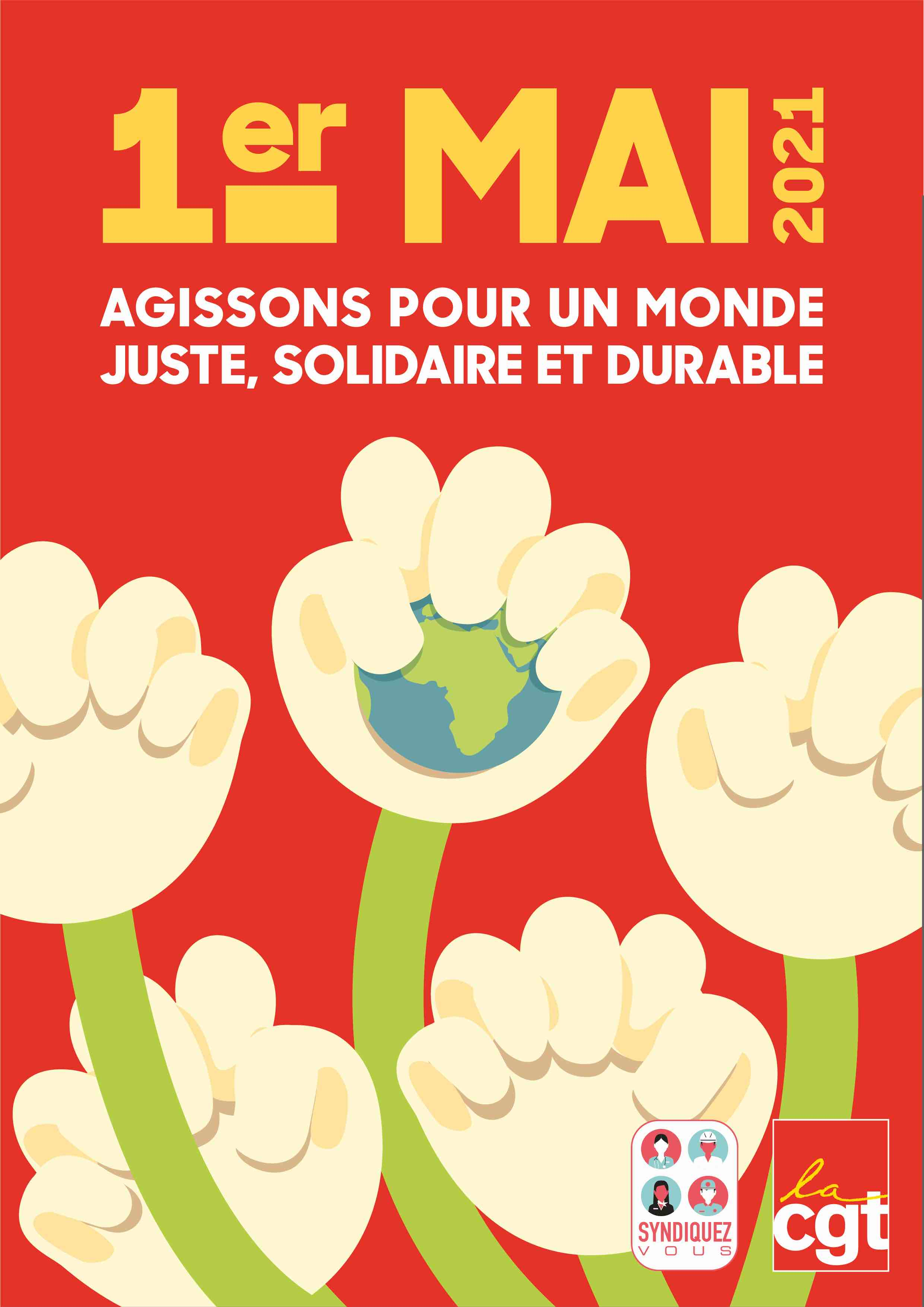 1er mai 2021 : Ensemble pour les droits sociaux et les libertés