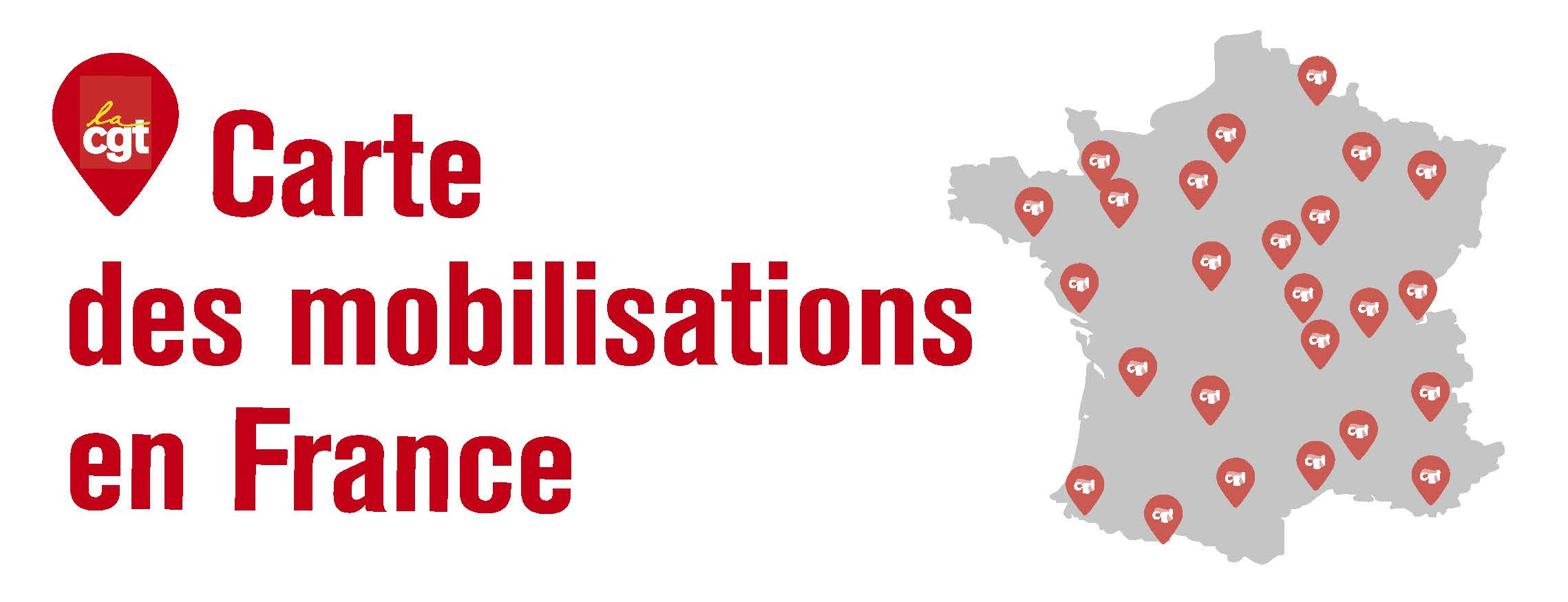 Carte des mobilisations en France